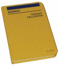 Sokkia Transit Field Book, 8x4 Grid