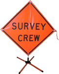 Vinyl Survey Crew Sign