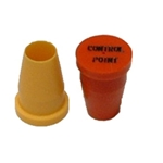 "3/8"" S Series Plastic Caps (for pipe & rebar)"